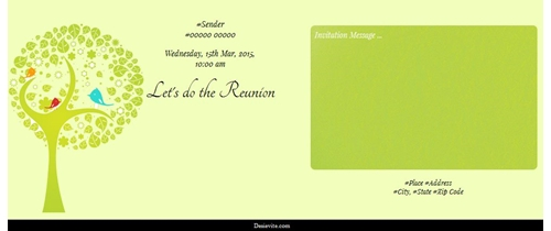 Lets do the Reunion-get together