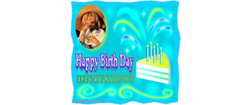 Ice age Birthday Party Invitations
