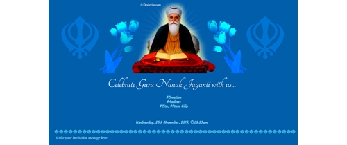 Celebrate Guru Nanak Jayanti with us