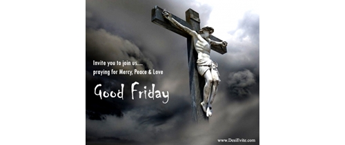 Invite you to join us praying for Murcy pace and love on this Good friday