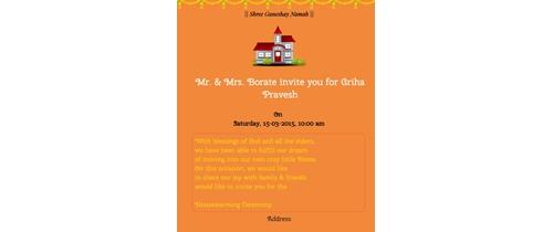 Housewarming Latest Invitation Card