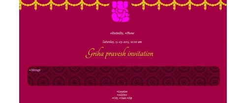 Free griha pravesh housewarming invitation card online invitations griha pravesh stopboris Images