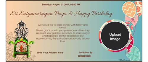 satyanarayan and birthday