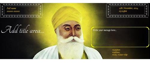 Guru Nanak Jayanti Invitation