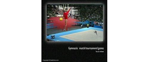 Gymnastic tournament invitatio