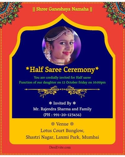 Free Invitation Card Online Invitations In Marathi