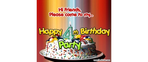 Hi friends pleae come to my 4th Birthday Party