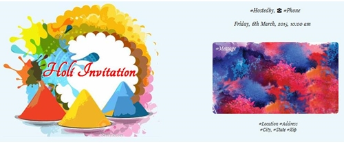 Holi festival invitation