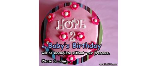 Hope 2nd my baby's birthday