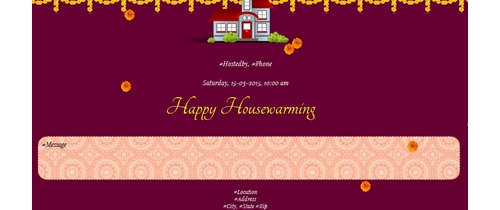 Free griha pravesh housewarming invitation card online invitations housewarming invitation animated stopboris