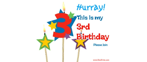 Hurray! this is my 3rd Birthday party