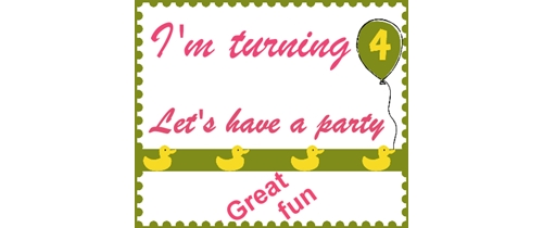 I am turning 4 Let's have a party