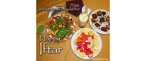 Invite to all of you for Iftar party