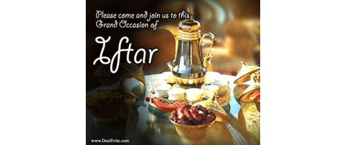 Please come and join us to this grand occession of Iftar