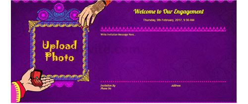 Free engagement invitation card video online invitations invitation with image indian engagement invitation card stopboris Images