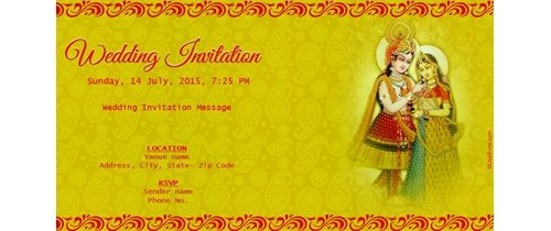 We request your gracious presence Wedding Invitation