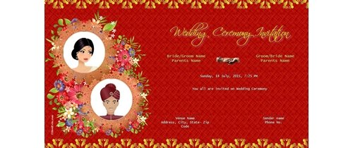 Invitation With Image Indian Wedding Ceremony