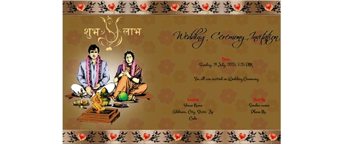 Indian Wedding Ceremony Invitation