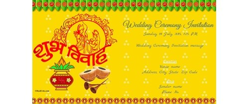 Wedding Ceremony Invitation