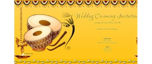Wedding invitation Theme Ganesh in middle