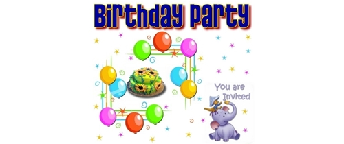 Invite you all my friends on my Birthday party tonight