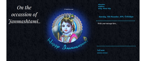 On the occassion of Janmashtami