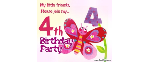 My little friend please join my 4th Birthday Party