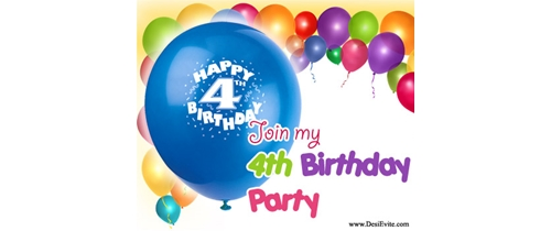 Join my 4th Birthday Party