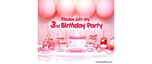 Please Join my 3rd Birthdday Party