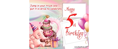 Jump in my truck and put it in drive to celebrate my 5th Birthday