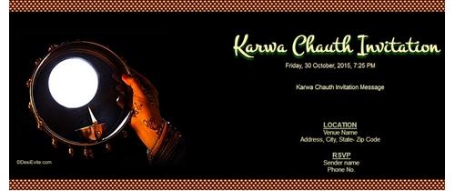 Karwa Chauth Invitation