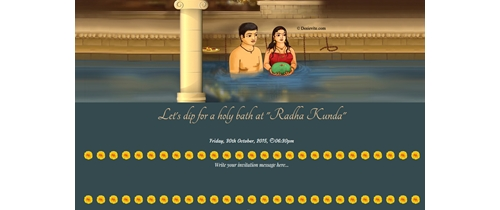dip for a holy bath at Radha Kunda
