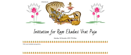 Invitation for Ekadasi Vrat Udyapan Puja