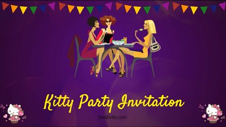 Free Kitty Party Invitation Card Online Invitations