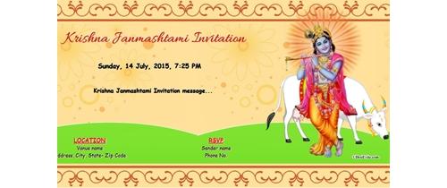 Krishna Janmashtami Invitation