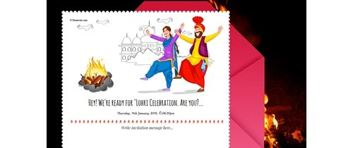 Lohri Festival Invitation