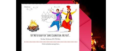 Free lohri invitation card online invitations lohri festival invitation stopboris Image collections