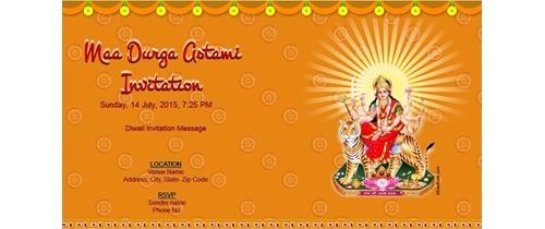 Free durga puja invitation card online invitations maa durga astami invitation stopboris Images