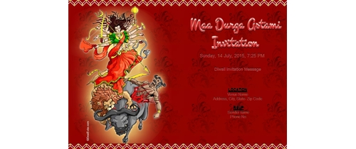Maa Durga Astami Invitation