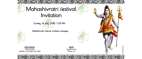 Mahashivratri Invitation