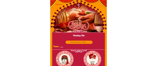 Hindu traditional Invitation theme card