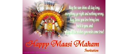 Maasi Maham Invitation