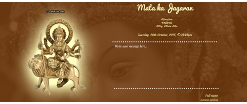 Mata ki chowki invitations design gallery personalize card buy now at 1 rs70 stopboris Image collections