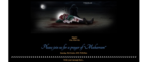 Please join us for a prayer of Muharram