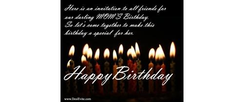 Mother Birthday Party Invitation