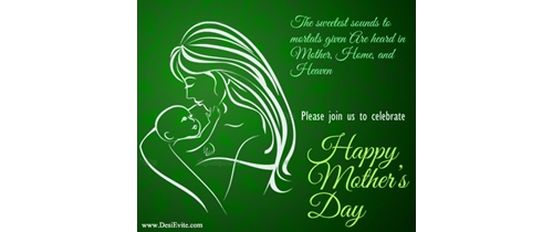 Please join us to celebrate Mother's Day