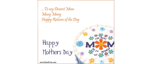 To my dearest mom today is Mother's Day come and join us