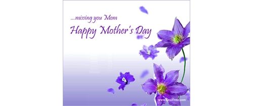 Missing you mom it's Mother's Day and party tonight
