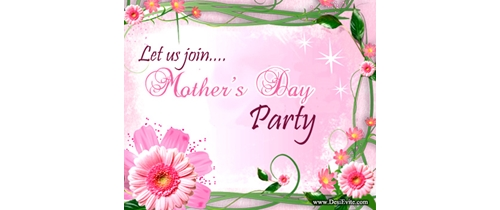 Let's join Mothers Day party