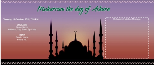 Muharram the day of Ashura